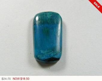 Rare Gem Chrysocolla Cabochon, 13x22.5x4.2 mm,designer cabochon, gemstone cabochons, flat back cabochons, natural stone cabochons (gs2872)