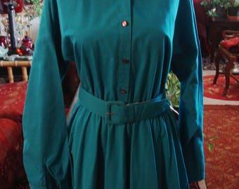 Vintage Turquoise Blue Dress