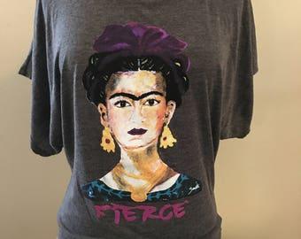 Frida Kahlo Flowy Fashion Shirt