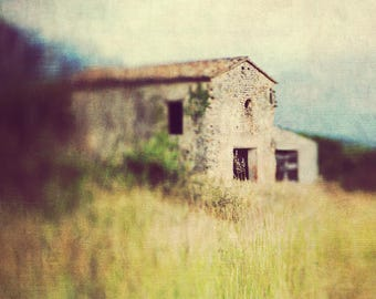 provence photography print, landscape photo, textured wall art, home decor, french style, travel, fine art photography, cottage, lensbaby
