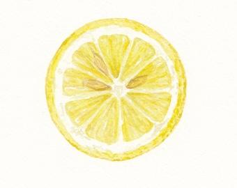 Lemon / Watercolor Illustration / Food Illustration / Art Print / Giclée Print / Wall Art / Home Decor