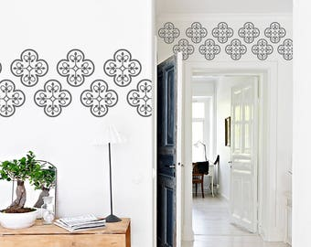 Moroccan Wall Decals, Living Room Decor, Moroccan Patterns, Wall Stickers, Bedroom Wall Decals, Wall Decor, Moroccan Stickers, ID654