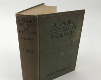 Antique History Book - A Short History Of England - 1927 - Illustrated - History Textbook - English History