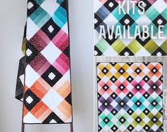 Ombre Lattice Quilt Kit Using Confetti Ombre Metallics