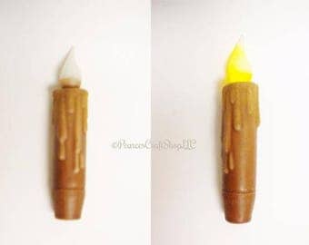 "Grubby 4"" Timer Taper, Primitive Candles, Timer Tapers, Country Farmhouse Decor, Decorative Candles"