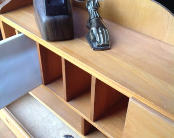 Desk Storage, Cubbies, Office Decor, Functional, Wood, Wooden
