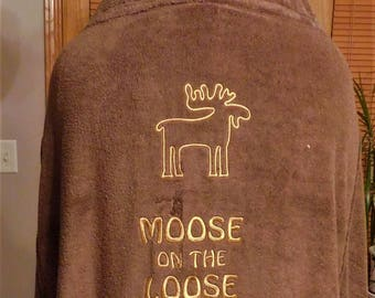 Adult-size Moose Hooded Towel - Free Personalization