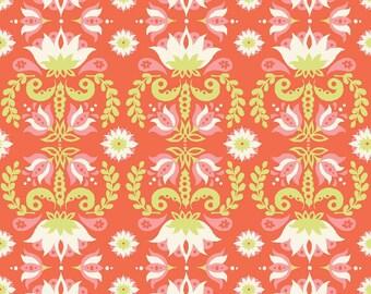 KNIT FABRIC - Flower Print - Monaluna Organic Cotton Knit Fabric - Groovy Lotus Knit - Raaga Knit Collection