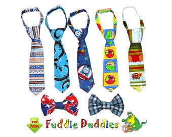 Boys Tie Pattern & Toddler Bow Tie Pattern, Necktie Sewing Pattern. Toddler Pattern. Baby Tie Pattern, Child PDF INSTANT DOWNLOAD. Dylan