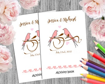 6 personalised wedding activity books wedding kids coloring books children activity book personalized party favors bride - Coloring Books For Toddlers
