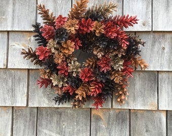 Mini Rustic Maine Pinecone Wreath