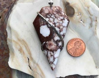 Wildhorse Magnesite Silver Wrapped  Pendant