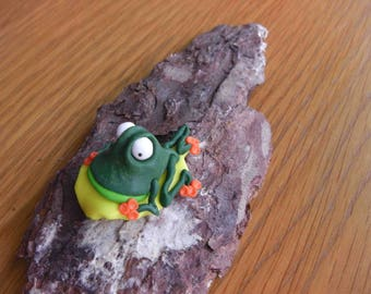 Collectable Polymer Clay Frog.