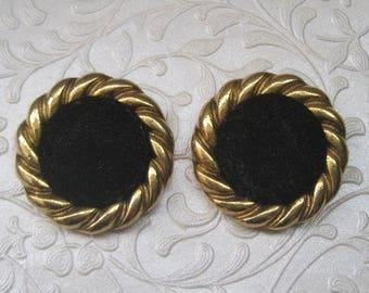 Black And Gold Shoe/Dress Clips, Vintage