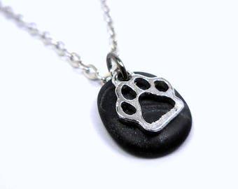 Paw Jewelry, Dog Paw Necklace, Cat Paw Charm, Animal Paw Pendant, Polymer Clay Jewelry, Animal Lover Gift, Dog Lover Gift, Cat Lover Gift