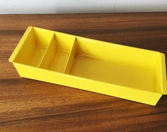 Tanker Drawer Insert Repurposed as Desktop Organizer, Refinished in Yellow