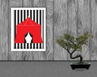 Circus Digital Art Print