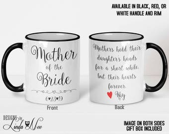 MOTHER of the Bride Mug, Personalized Gift, Wedding Gift for Mom, Gift from Bride, Gift from Daughter, Thank You Gift Coffee Mug Gift MPH165