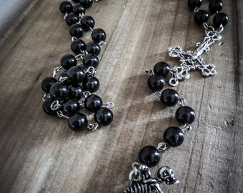 Chaplet Rosary beads mixed moto cross ♰666 Ghost Rider 666♰
