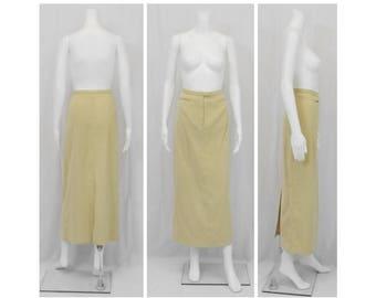 ASHLEY STEWART Buff Faux Suede Skirt Size 14