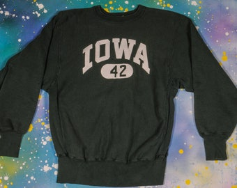 IOWA CHAMPION Reverse Weave Sweatshirt Size L