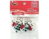 Christmas Disney Mickey Snowmen Buttons and Flatbacks Jesse James Dress it Up Theme Pack