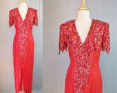 Red Dress / Vtg 80s / Har...