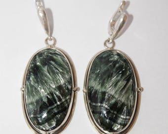 Seraphinite  Earrings, Clinochlore  Earrings, Serafinite Jewelry, FREE SHIPPING