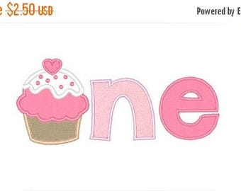 25% OFF Cupckae One Applique Embroidery Design - Instant Download