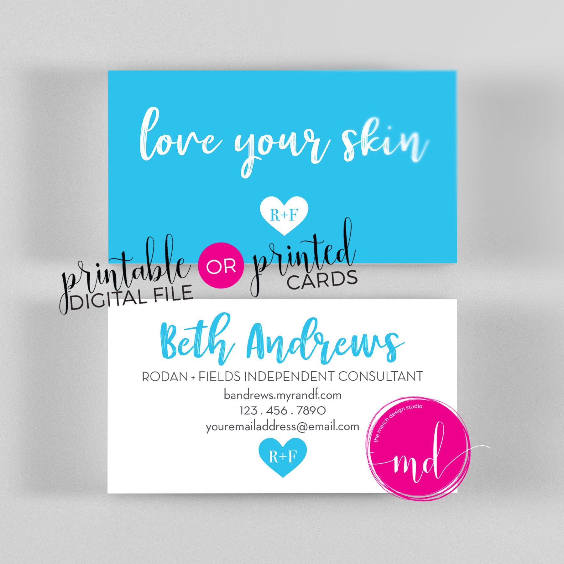 Rodan and Fields business cards printed Rodan and Fields