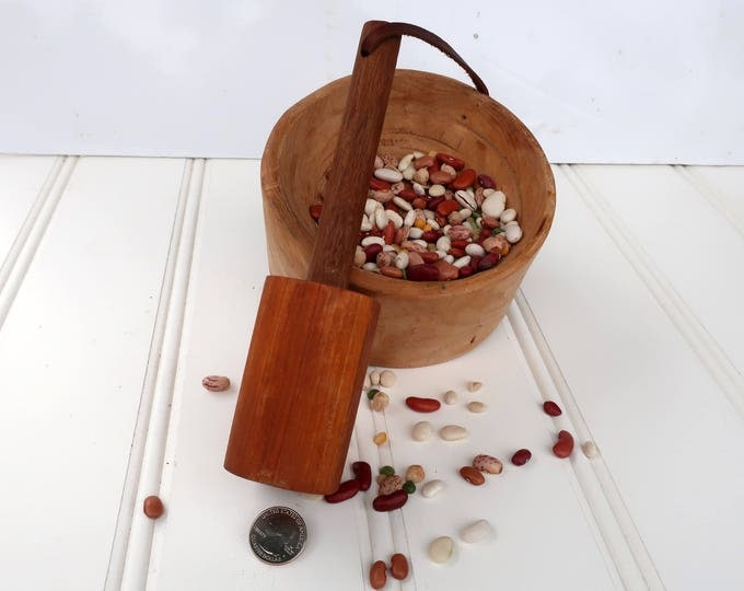 Cherry Walnut Bean masher with bowl By Crazy Bear