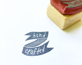 Handcrafted stamp, handmade stamp, small business stamp, packaging stamp, shipping stamp, local business stamp, hand crafted stamp, handmade
