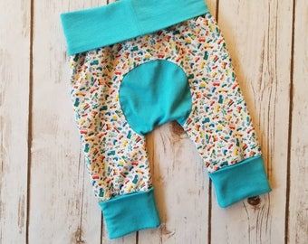 Miniloones Grow With Me Pants Car Gender Neutral Baby Leggings Maxaloones