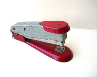 Vintage Red Stapler - Office - Industrial - Arrow Fastener Co - Made in Brooklyn USA