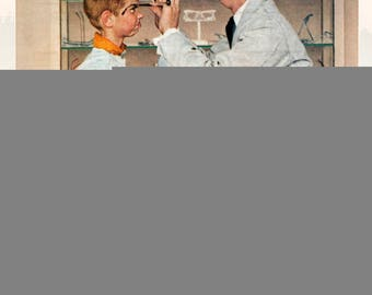 Norman Rockwell-The Optometrist-1972 Poster
