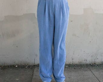 Early 90s pleated blue pants