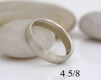 Woman's white gold wedding band, size 4 5/8 or custom sizes, #448.