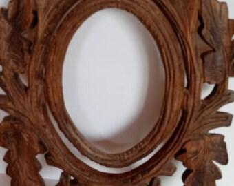 Vintage Wood Hand Carved Frame