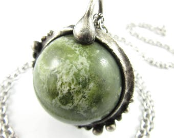 medusa - serpentine crystal ball necklace
