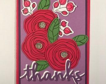 Sweet Berry Flower Swirls Thank You
