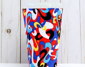 Medium Dr. Seuss Coffee Cozy, Iced Coffee Cozy, Cup Sleeve, Eco Friendly, Insulated Cup Sleeve,