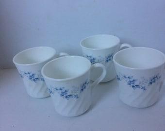 Corning coffee cups vintage corning flower mugs