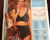 Ladies Lingerie pattern  women's sizes 4,6,8,10, 12,14,16,18,20,& 22