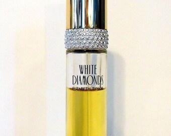 Vintage Perfume 1990s White Diamonds by Elizabeth Taylor 0.5 oz Eau de Toilette Purse Spray
