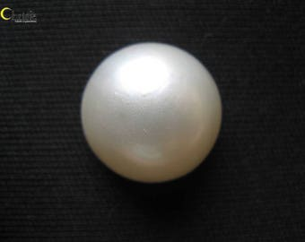 Organic White Mabe Pearl Cabochon - 17.5mm round
