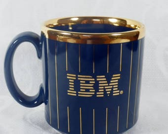 IBM Gold Trimmed Coffee Mug - Vintage