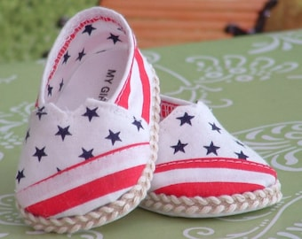 Patriotic Tom Style Shoes for American Girl