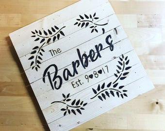 Personilized Wood Burned Family Sign