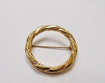 ON SALE MONET Twisted Circle Pin Item K # 2405
