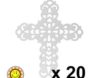 metal stainless steel cross charm 20 prints
